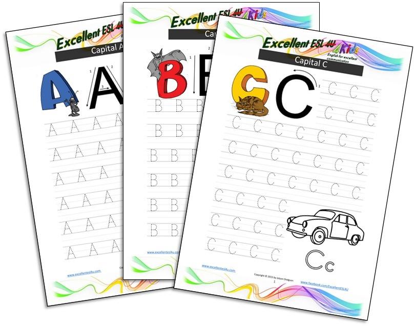 Esl Kids Alphabet Writing Worksheets: Esl Writing Worksheets At Alzheimers-prions.com