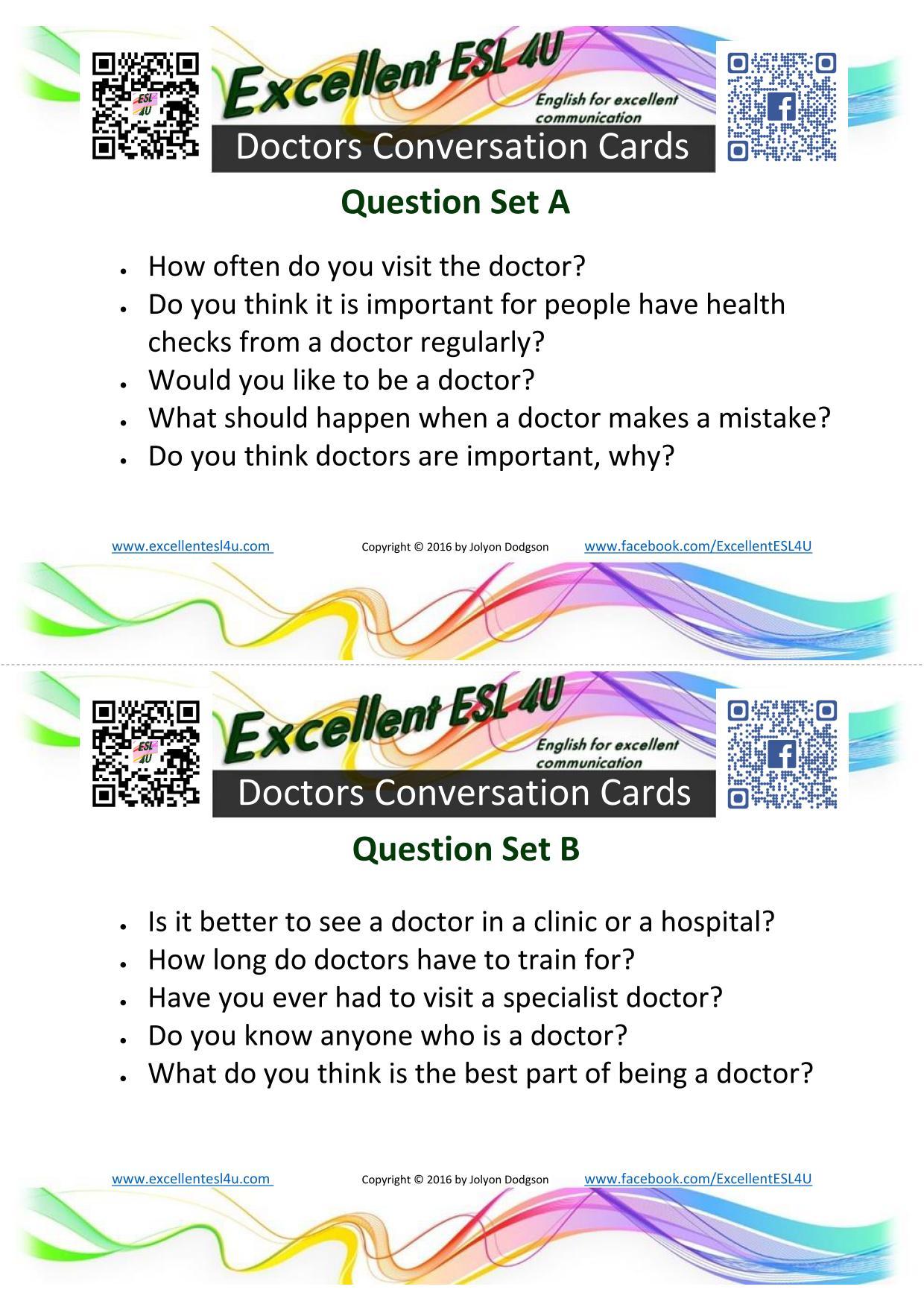 Esl Doctors Conversations