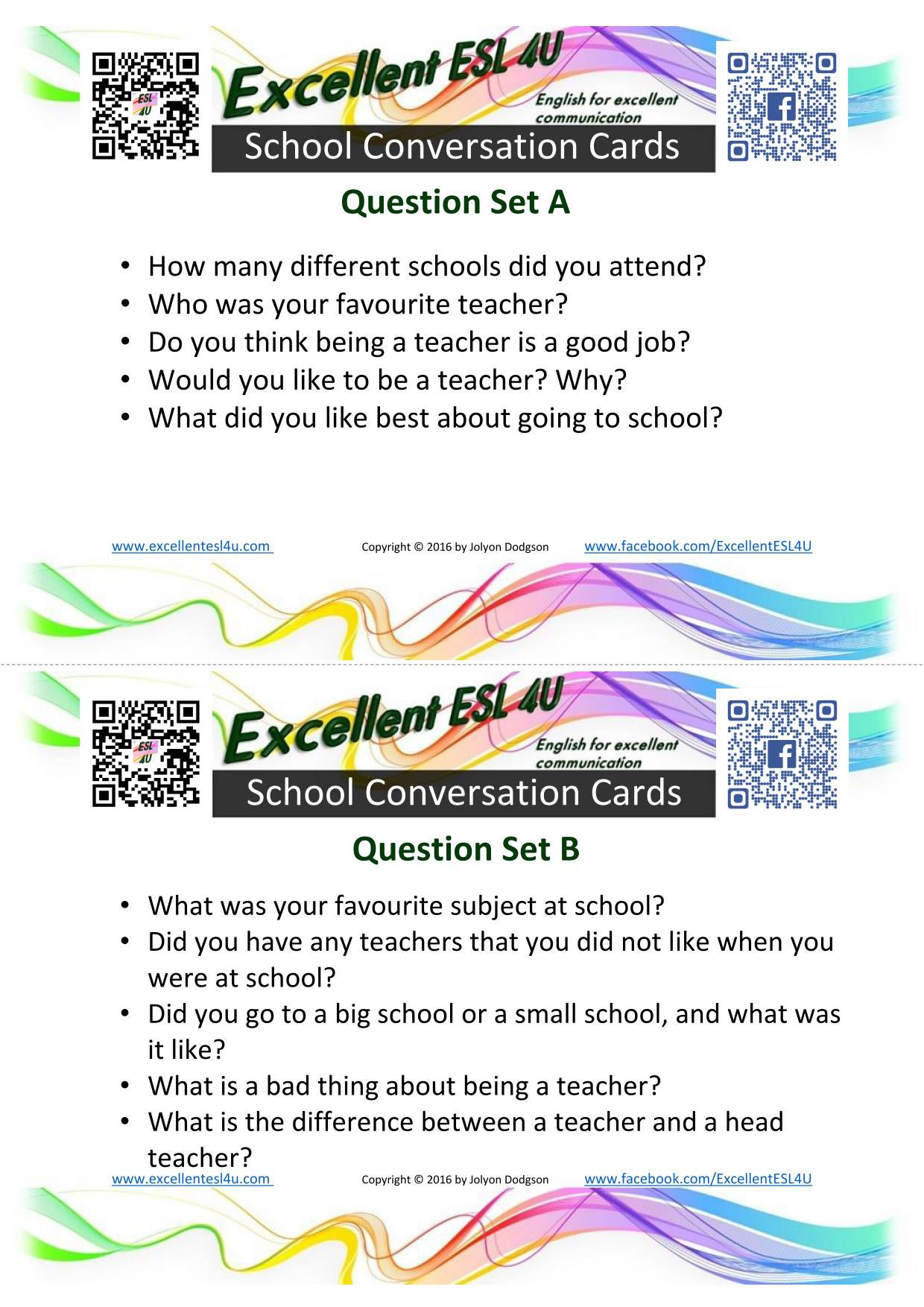 esl school conversation other pages about schools that you might like