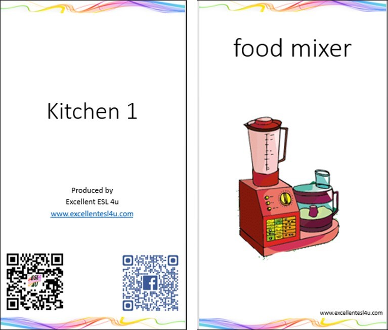 ESL Kids Kitchen Vocabulary 1
