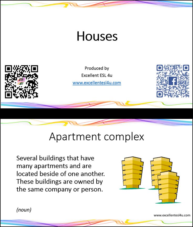 Flat Apartment Definition: ESL Houses Vocabulary