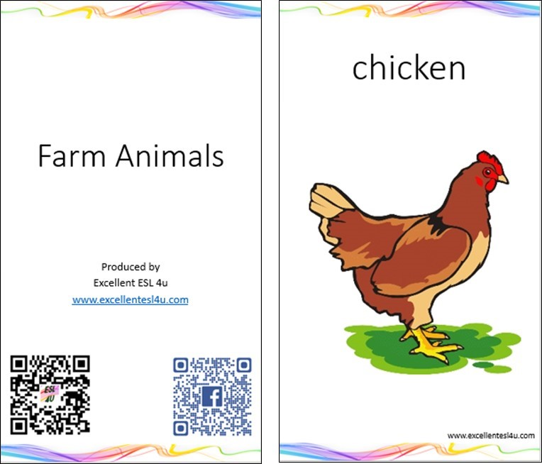 these picture flashcards can be downloaded and printed so you and your family can learn the esl kids farm animals vocabulary anywhere - Pictures Of Animals For Kids