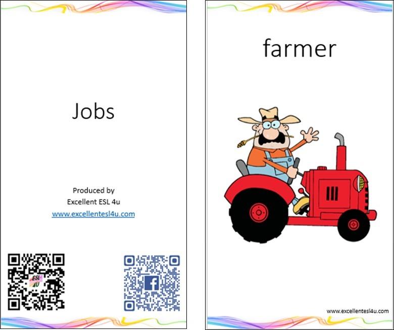 ESL Kids Jobs Vocabulary