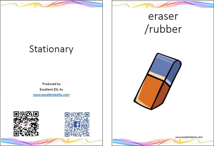 ESL Kids Stationary Vocabulary