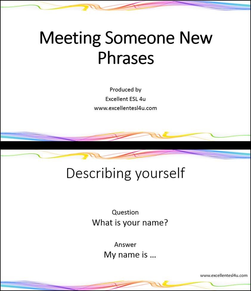Esl Meeting Someone New Vocabulary