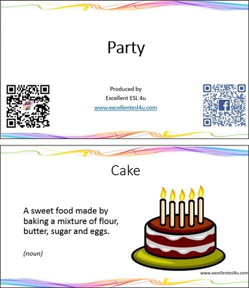 ESL Party Vocabulary